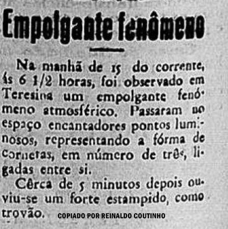 NOTÍCIA DO JORNAL TERESINENSE GAZETA, 19 DE JUNHO DE 1943.